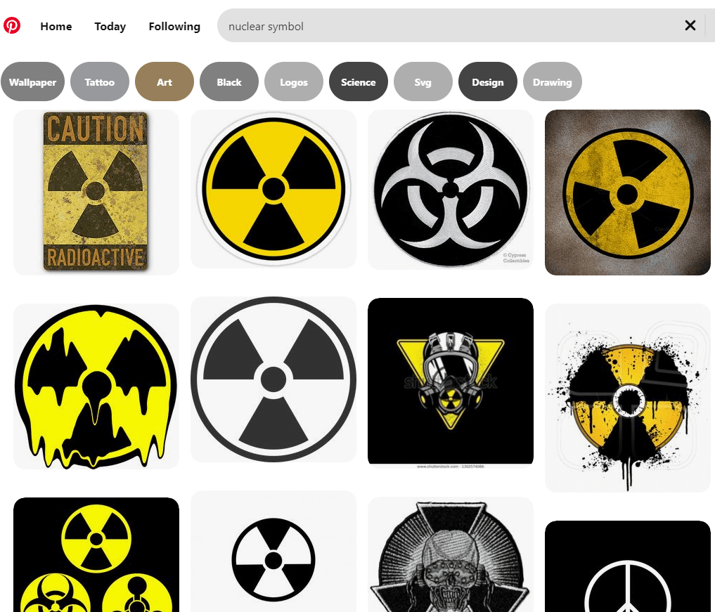 "pinterest search on ""nuclear symbol"""